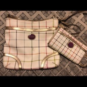 Coach crossbody bag with matching wallet
